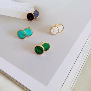 Other - Unisex Natural stone stud earrings